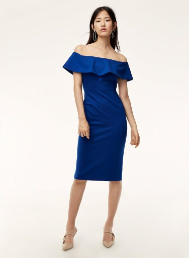 Babaton Ruslan Dress in Blue by Aritzia – MsSoniaSandhu Blog